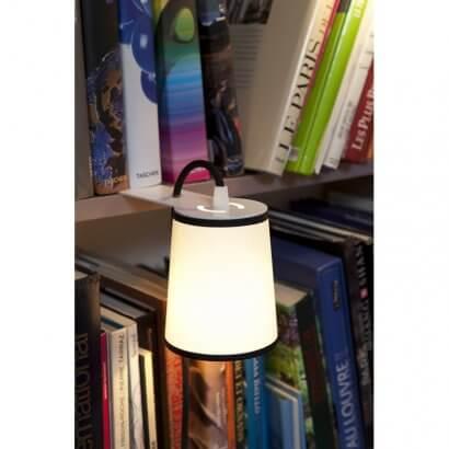 Library lamp LIGHTBOOK White black border